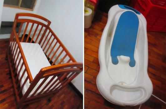 crib and tub