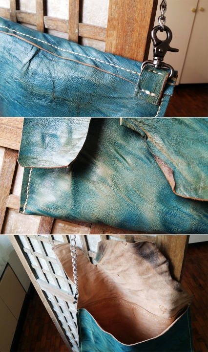 blue distressed details