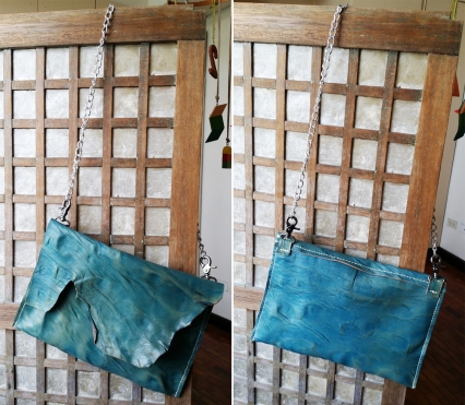 blue distressed front & back